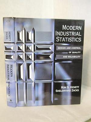 Modern Industrial Statistics: Design and Control of: Kenett, Ron; Zacks,