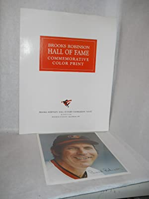 Brooks Robinson Hall of Fame Commemorative Color Print