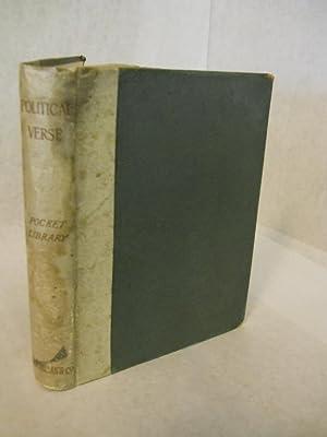 Political Verse. The Pocket Library of English Literature. Vol. II: Saintsbury, George, editor