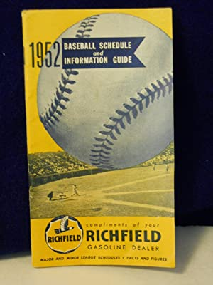 1952 Baseball Schedule and Information Guide: Woodrow Press, editors of
