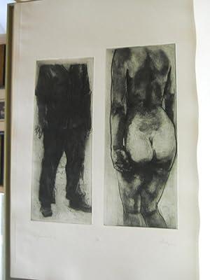 The Artist and the Model: Twelve Etchings [artist's portfolio] SIGNED: Mazur, Michael