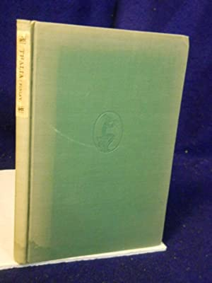 Thalia or A Country Day, a Masque, SIGNED by author: Finley, John, Jr.