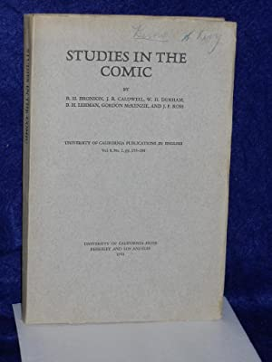 Studies in the Comic: Bronson, B.H. with J.R. Caldwell, W.H. Durham and others