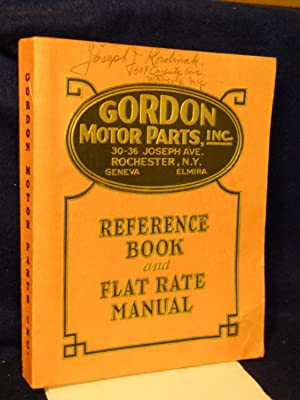 General Catalog and Flat Rate Schedule: Gordon Motor Parts