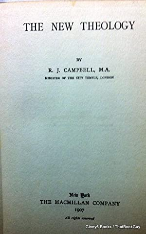 The New Theology: R.J. Campbell