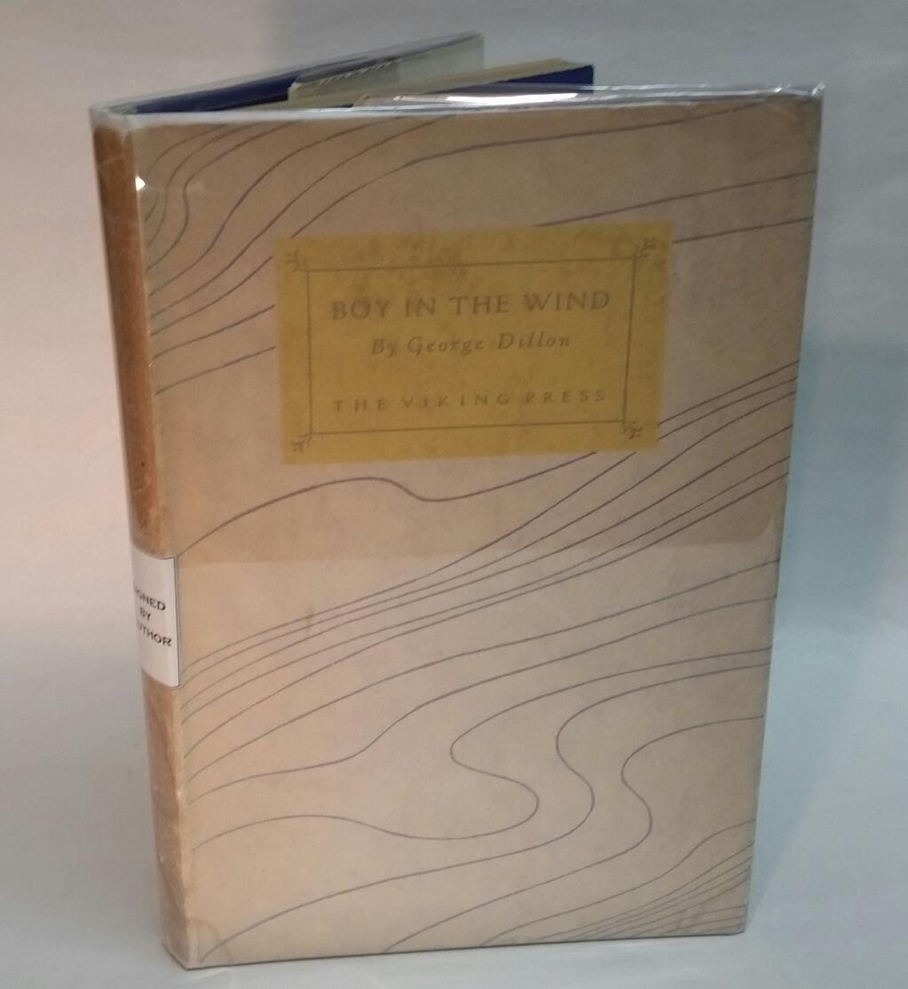 BOY IN THE WIND. Inscribed by author: Dillon, George