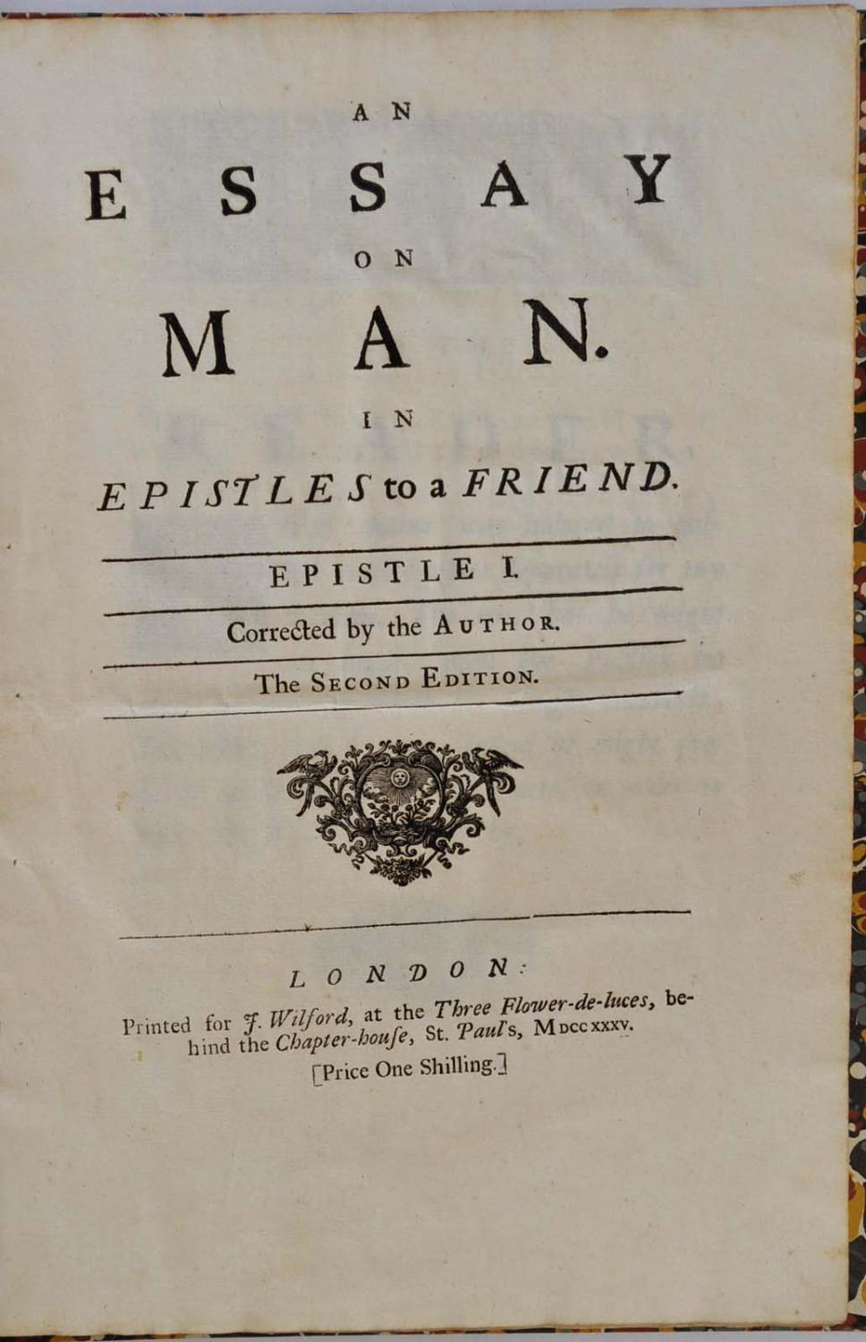 alexander pope an essay on man epistle ii 280 an essay on man epistle ii-of the nature and state of man with respect to himself, as an individual alexander pope 1909-14 english poetry i: from chaucer to.