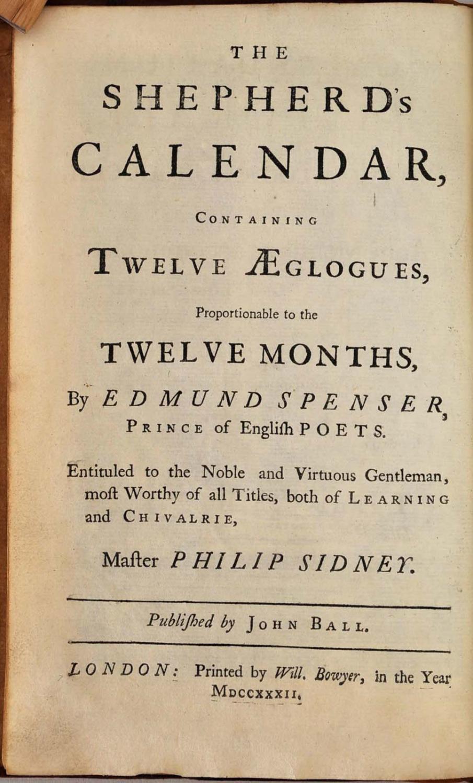 shepherd's calendar - First Edition - AbeBooks