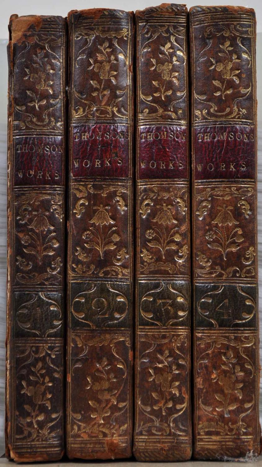 THE WORKS OF JAMES THOMSON. With His Last Corrections and Improvements In Four Volumes. Four volume...