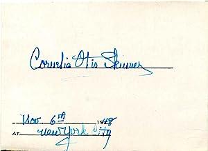 Card Signed by Cornelia Otis Skinner.: Skinner, Cornelia O.