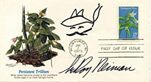 First Day Cover signed by and with a sketch by Leroy Neiman.: Neiman, Leroy
