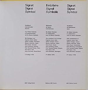 Signet. Signal. Symbol. Embleme. Symbole. Handbuch internationaler Zeichen. Repertoire de signes ...