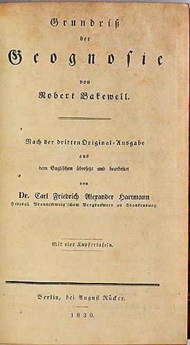 Grundriss der Geognosie. Nach der dritten Originalausgabe aus dem Englischen ubers. und bearb. von ...