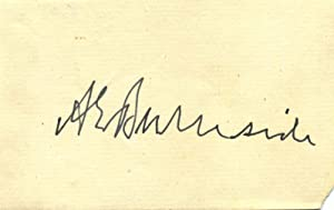 Signature of Ambrose Everett Burnside (1824-1881).: Burnside, Ambrose Everett