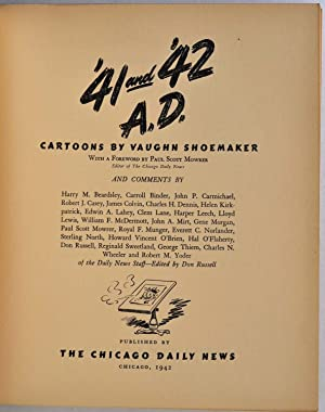 41 and '42 A.D. Cartoons by Vaughn Shoemaker. Signed by Vaughn Shoemaker.: Shoemaker, Vaughn