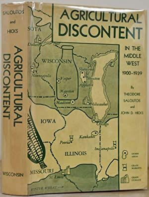 AGRICULTURAL DISCONTENT IN THE MIDDLE WEST 1900-1939. Signed by T. W. Schultz.: Saloutos, Theodore;...
