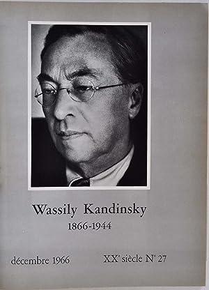 XXe SIECLE. No. 27. Decembre 1966. Centenaire de Kandinsky.: San Lazzaro, G. di