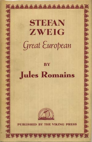STEFAN ZWEIG. Great European.: Romains, Jules