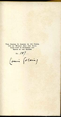 PROPHET AND FOOL. Limited edition signed by Louis Golding.: Golding, Louis