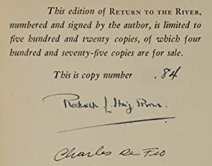 RETURN TO THE RIVER. A Story of the Chinook Run. Limited edition signed by Roderick L. Haig-Brown ...