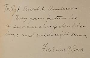 MY ATTAINMENT OF THE POLE. Signed by Dr. Frederick A. Cook. Being the Record of the Expedition that...