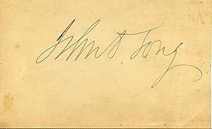Autographed Card: Long, John Davis (1838-1915)