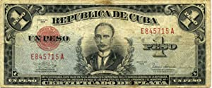 Cuban 1938 one peso banknote/currency signed by: Hemingway, Ernest
