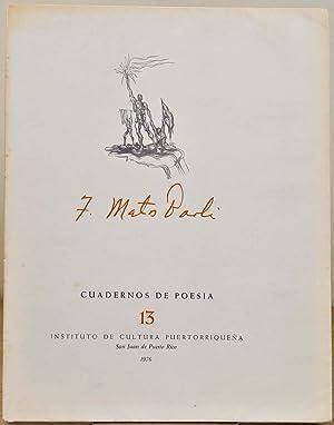 CUADERNOS DE POESIA.: Paoli, Francisco Matos; Augusto Marin