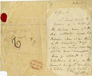 Autograph Letter Signed (ALS) by Abraham Cooper, R.A. (1787-1868).: Cooper, Abraham