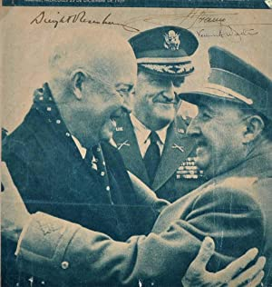 Newspaper Photograph Signed by Dwight D. Eisenhower, Franco and Vernon Walters.: Eisenhower, Dwight...