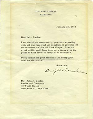 Typed Letter Signed: Eisenhower, Dwight D. (1890-1968)