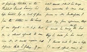 Autograph Letter Signed: Keble, John (1792 - 1866)