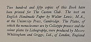 ROGER PAYNE. ENGLISH BOOKBINDER OF THE EIGHTEENTH CENTURY.: Davenport, Cyril; Roger Payne