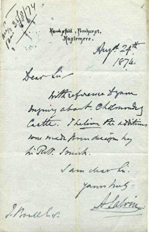 Autograph Letter Signed: Salvin, Anthony (1799-1881)