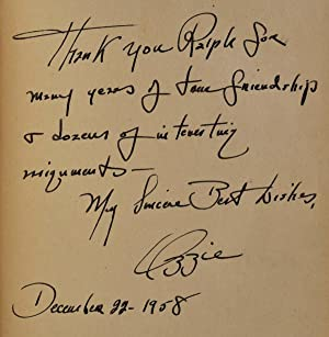 MY CAMERA PAYS OFF. Signed and inscribed by the author.: Sweet, Ozzie