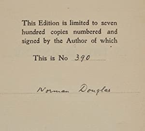 In the beginning. Signed by the author.: Douglas, Norman 1868-1952