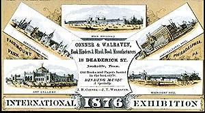 International exhibition 1876.: Conner & Walraven, book binders.