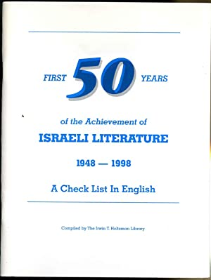 Check list of Israeli literature 1948-2000 in English, A. Revised August, 1999.