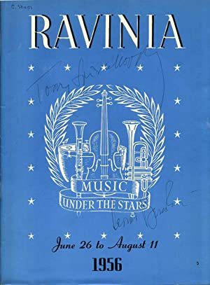Ravinia Concert Program Signed by Leonard Bernstein and Tossy Spivakovsky.: Bernstein, Leonard; ...