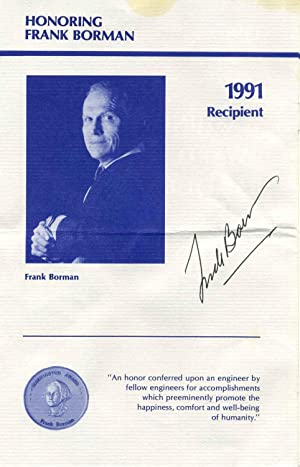 Program signed by astronaut Frank Borman.: Borman, Frank