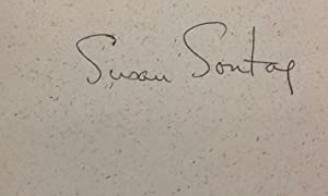 Illness As Metaphor. Signed by Susan Sontag.: Sontag, Susan