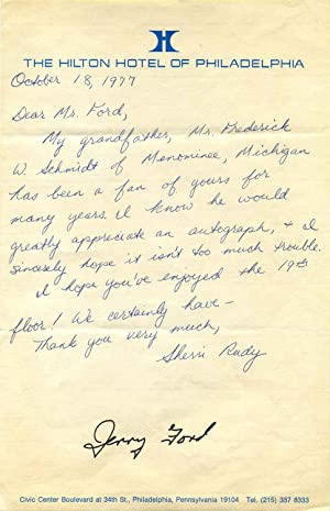 Autograph of Gerald R. Ford.: Ford, Gerald R.