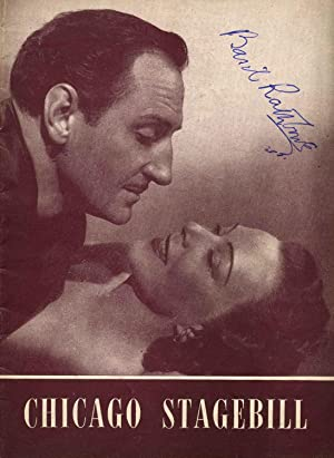 Erlanger Theatre Program for Obsession signed by Basil Rathbone (1892-1967).: Rathbone, Basil