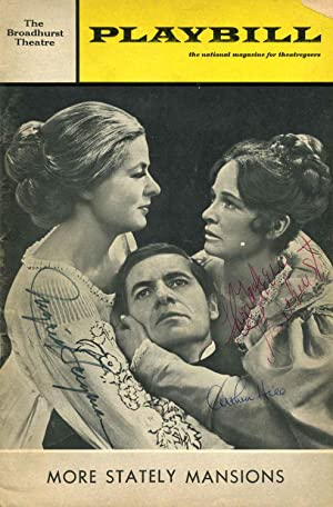 """Broadhurst Theatre Stagebill (Program); Eugene O'Neill's """"More Stately Mansions.&..."""