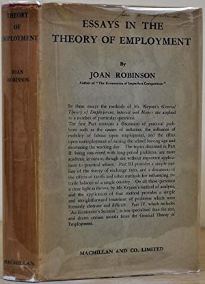 ESSAYS IN THE THEORY OF EMPLOYMENT.: Robinson, Joan