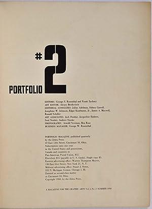 PORTFOLIO MAGAZINE #2. Vol. 1, No. 2. A Magazine for the Graphic Arts. Summer 1950.: Brodovitch, ...