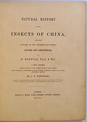 NATURAL HISTORY OF THE INSECTS OF CHINA, Containing Upwards of Two Hundred and Twenty Figures and ...