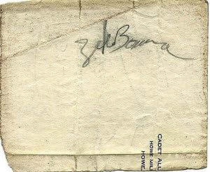 Signature of Zeke Bonura (1908-1987).: Bonura, Zeke