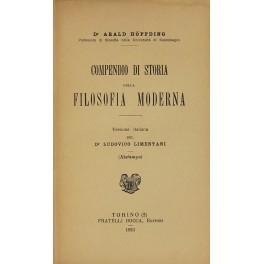 Compendio di storia della filosofia moderna. Versione: Hoffding Harald