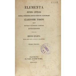 Elementa juris civilis juxta ordinem institutionum Justiniani: Toboni Giuseppe Ludovico